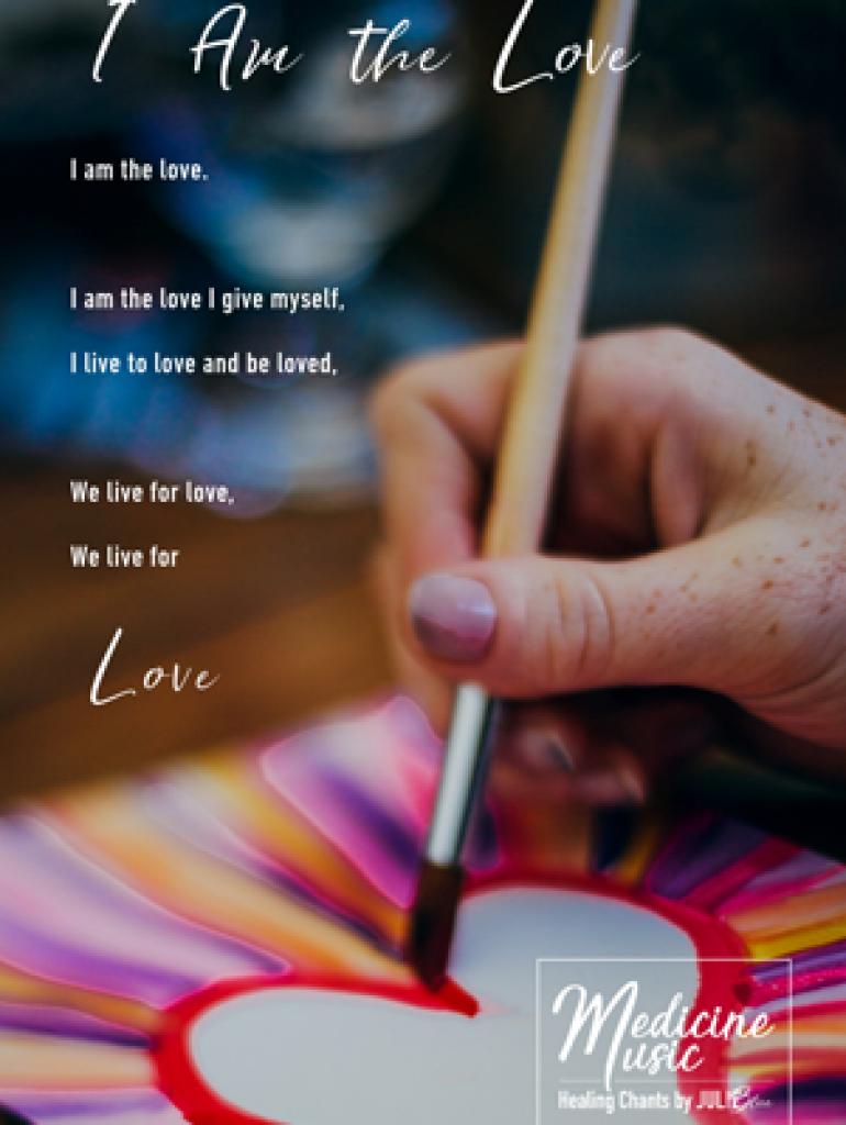 I am the love - Art card