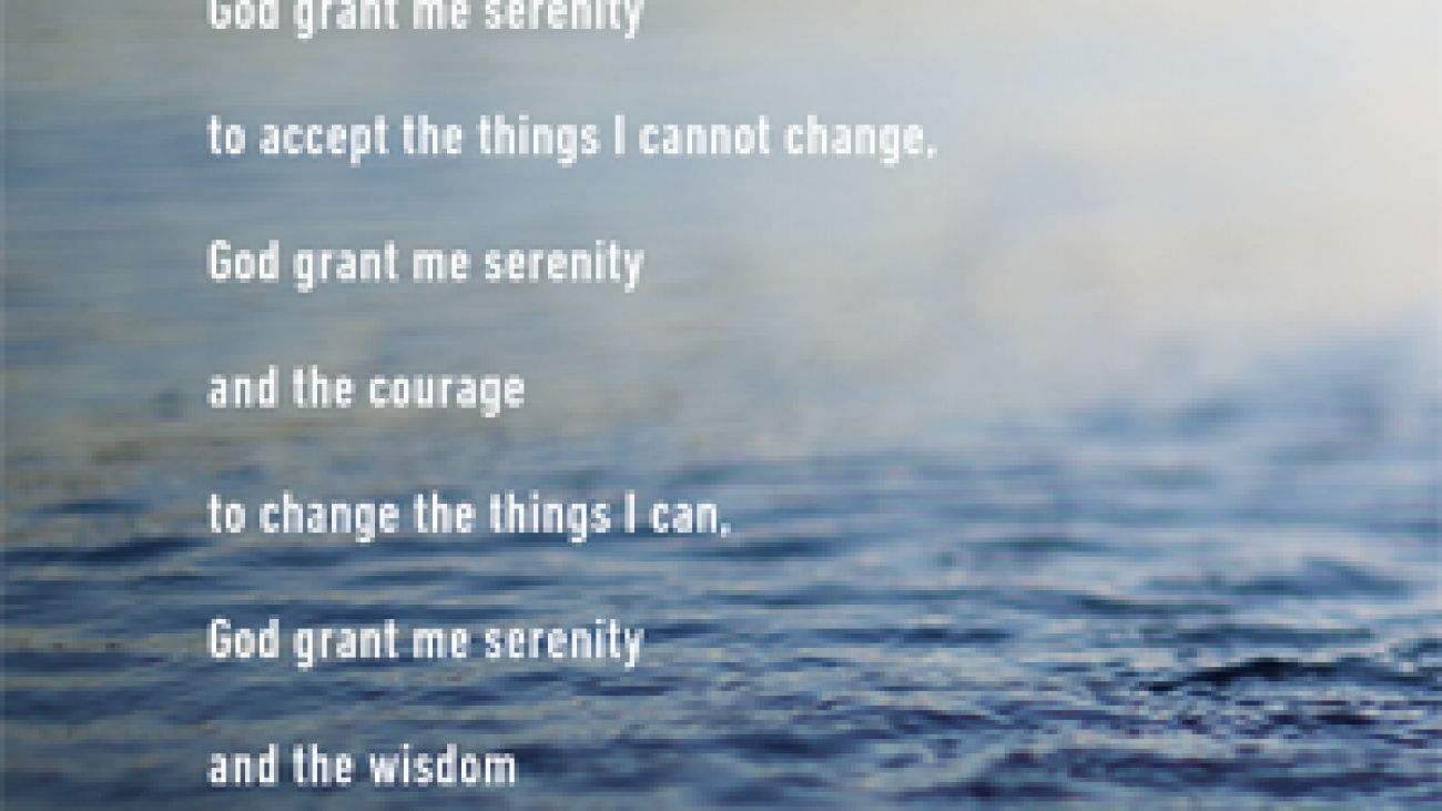 Serenity Prayer - Art card