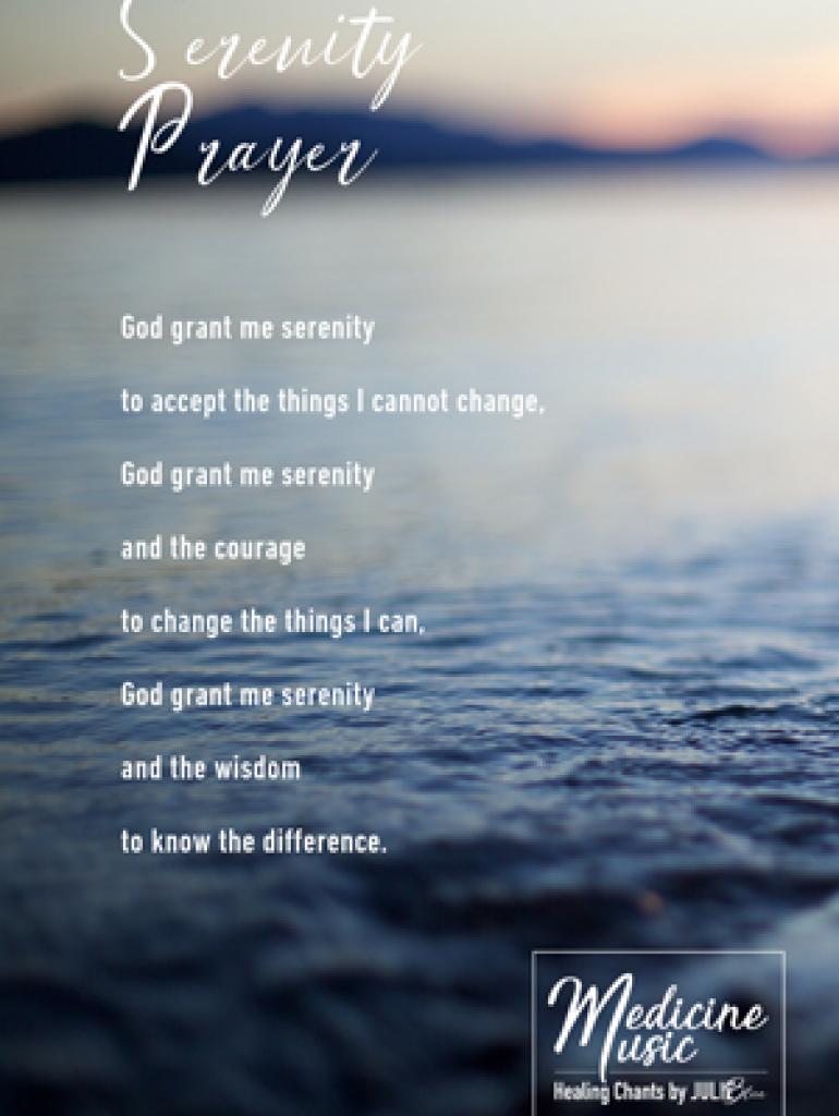 Serenity Prayer - Art card